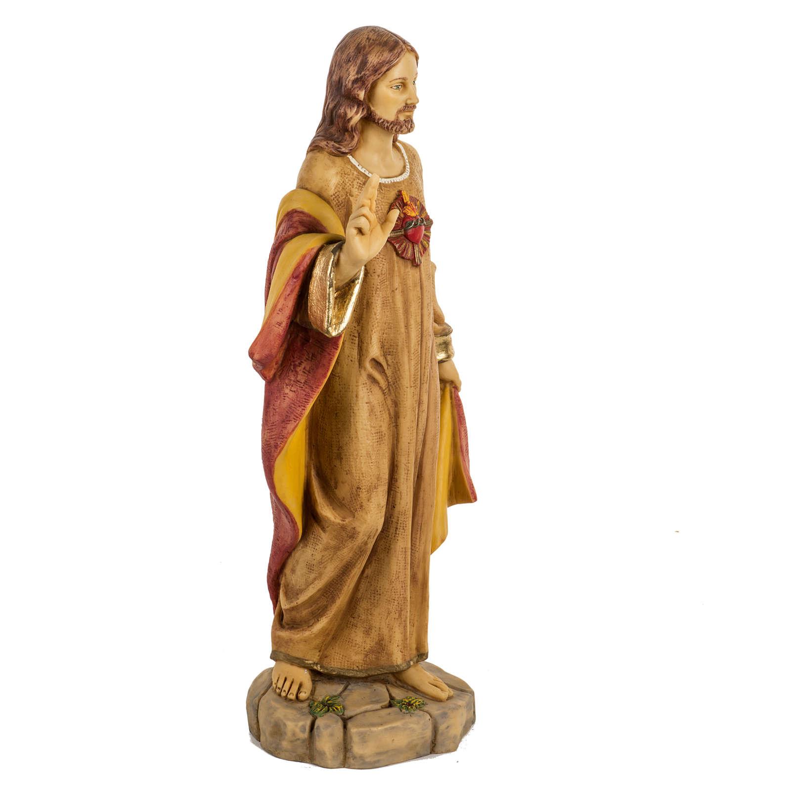 Sagrado Corazón de Jesús 50 cm. resina Fontanini 4