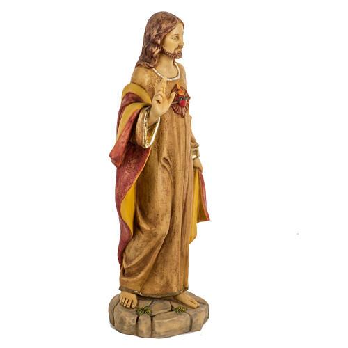 Sagrado Corazón de Jesús 50 cm. resina Fontanini 5