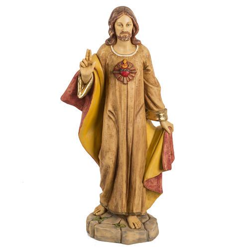 Statua Sacro Cuore di Gesù 50 cm resina Fontanini 1