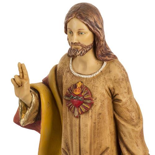 Statua Sacro Cuore di Gesù 50 cm resina Fontanini 2