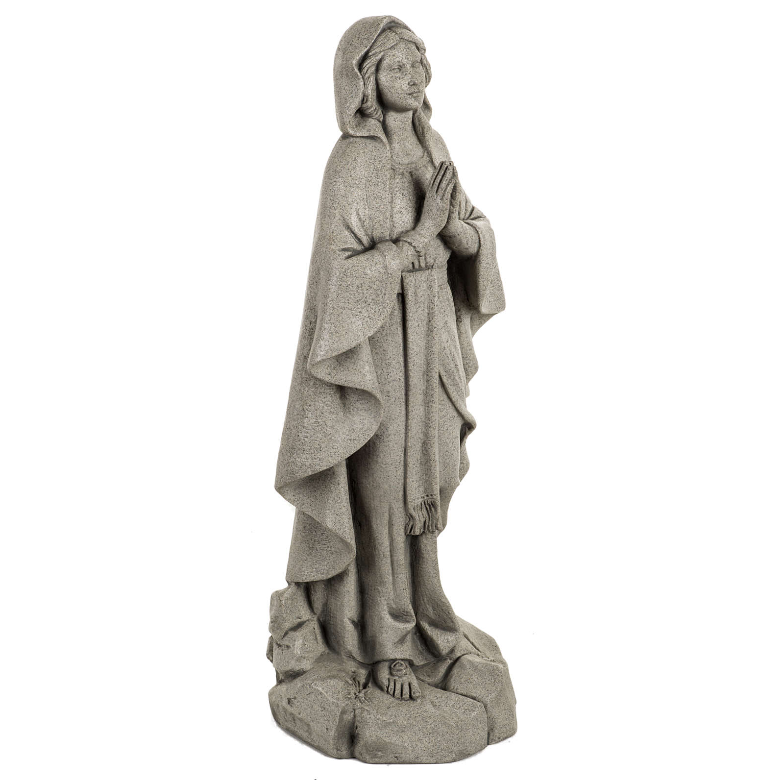 Madonna di Lourdes 50 cm resina Fontanini finitura pietra 4
