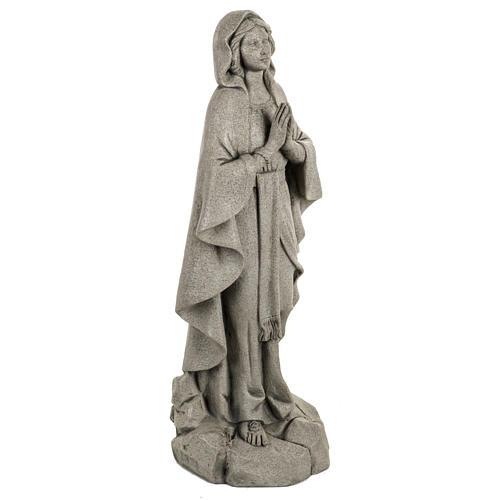 Madonna di Lourdes 50 cm resina Fontanini finitura pietra 3