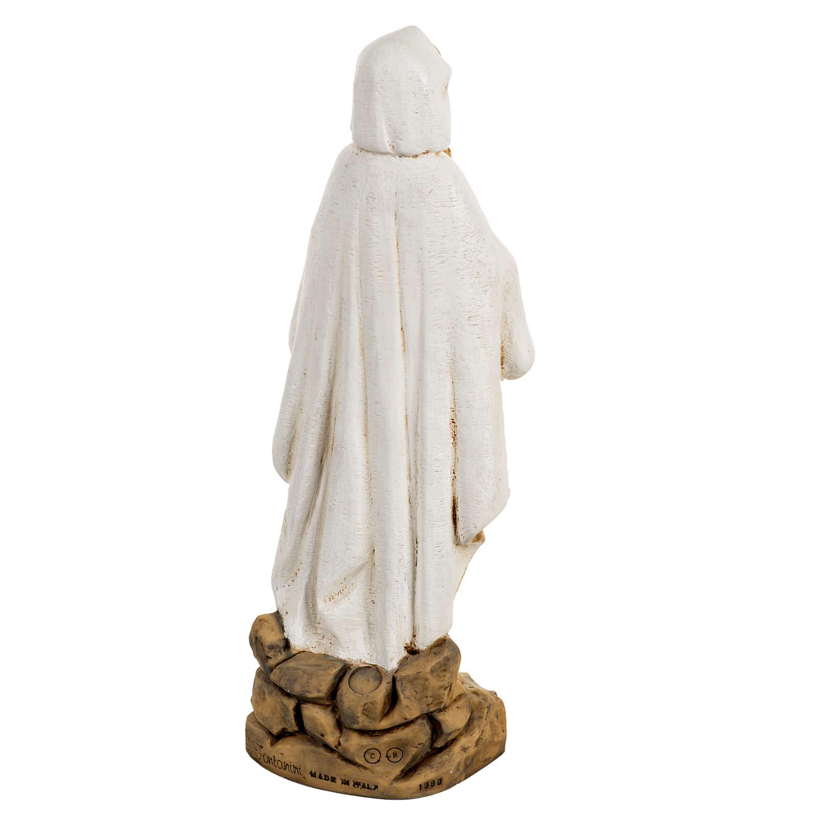 Statue Notre Dame de Lourdes 50 cm résine Fontanini 4