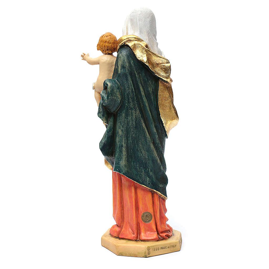 Statua Madonna con bambino 50 cm resina Fontanini 4