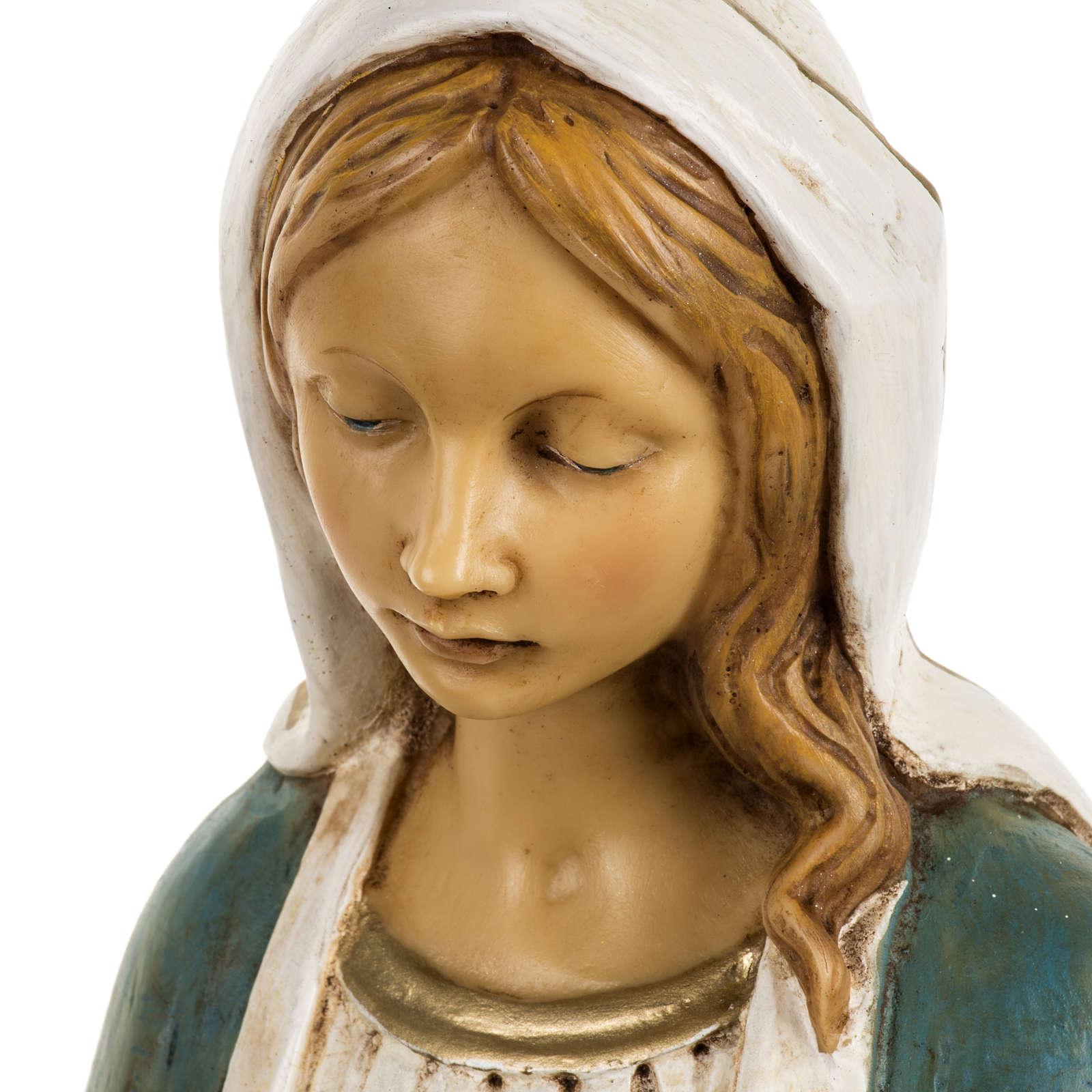 Statue Vierge Immaculée 50 cm résine Fontanini 4