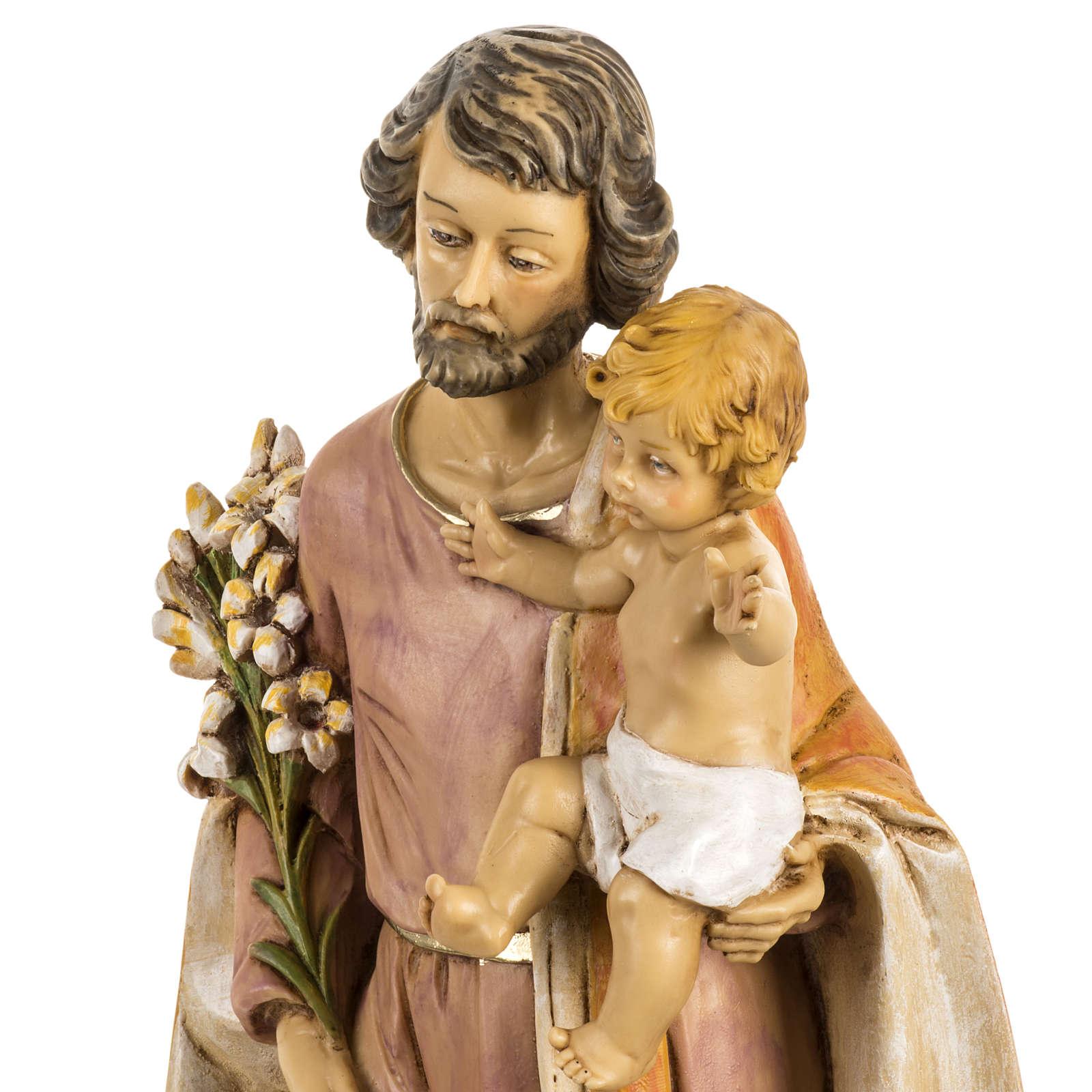 Statue Josef mit Christkind aus Harz 50cm, Fontanini 4