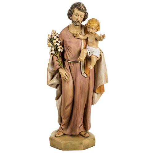 San Giuseppe con bambino 50 cm resina Fontanini 1