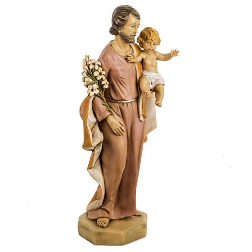 San Giuseppe con bambino 50 cm resina Fontanini 2