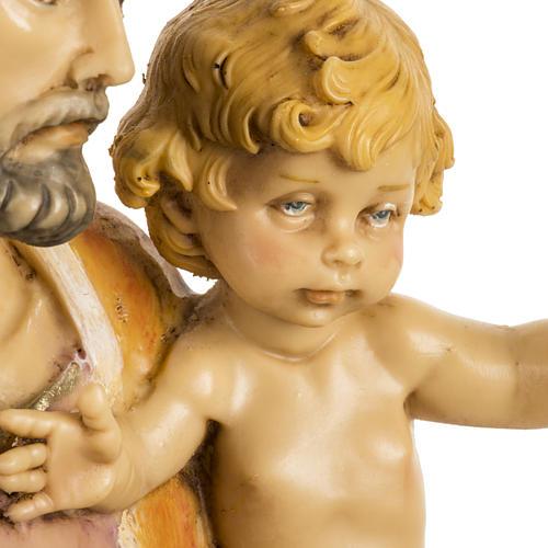 San Giuseppe con bambino 50 cm resina Fontanini 3