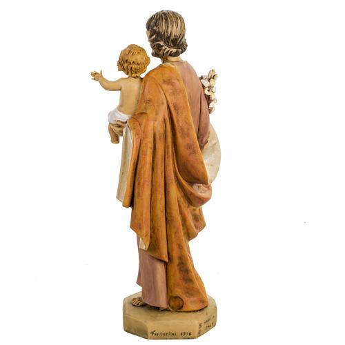 San Giuseppe con bambino 50 cm resina Fontanini 6