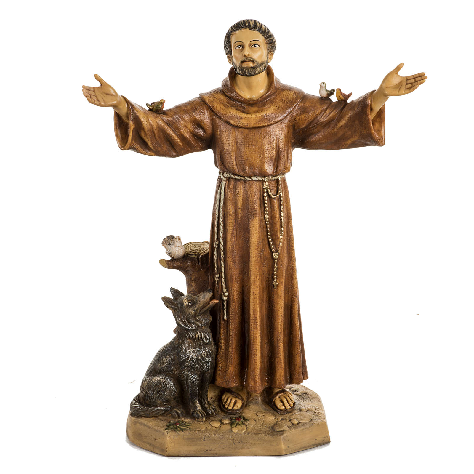 San Francesco d'Assisi 50 cm resina Fontanini 4
