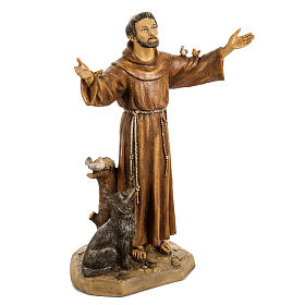 San Francesco d'Assisi 50 cm resina Fontanini s2