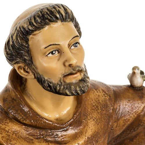 San Francesco d'Assisi 50 cm resina Fontanini 3
