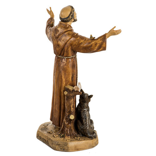 San Francesco d'Assisi 50 cm resina Fontanini 6