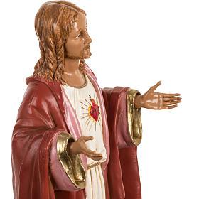 Sacré coeur de Jésus 40 cm résine Fontanini s4