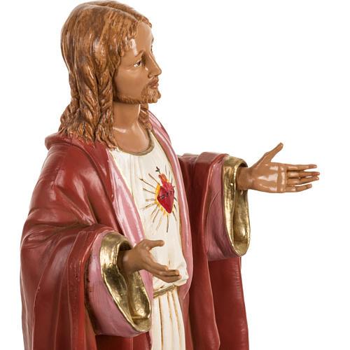 Sacré coeur de Jésus 40 cm résine Fontanini 4