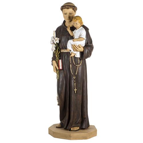 Statue Antonius von Padua aus Harz 100cm, Fontanini 1