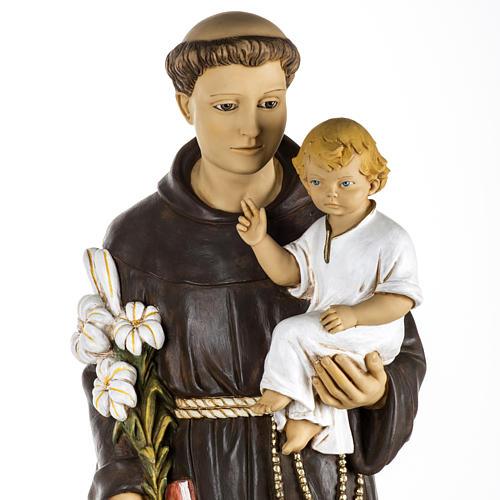 Statue St Antoine de Padoue 100 cm résine Fontanini 2