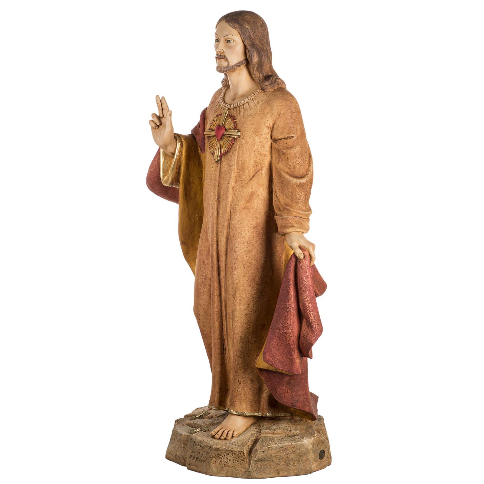 Statue Heiligstes Herz Jesu aus Harz 100cm, Fontanini 4
