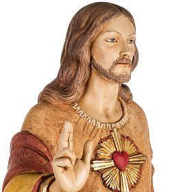 Sagrado Corazón de Jesús 100 cm. resina Fontanini s4