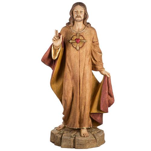 Sagrado Corazón de Jesús 100 cm. resina Fontanini 1