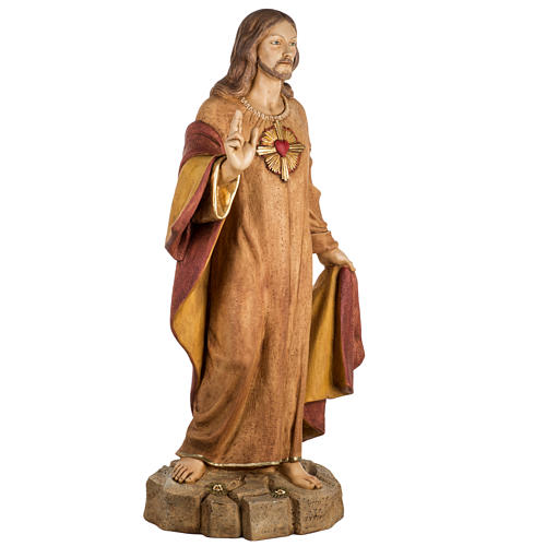 Sagrado Corazón de Jesús 100 cm. resina Fontanini 3