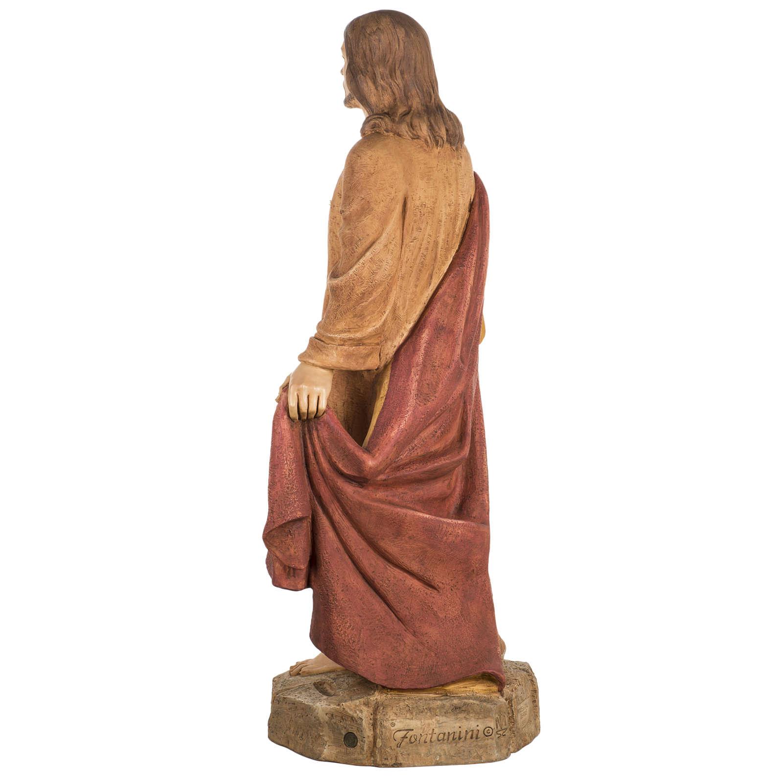 Sacré Coeur de Jésus 100 cm résine Fontanin 4