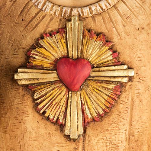 Sacré Coeur de Jésus 100 cm résine Fontanin 2
