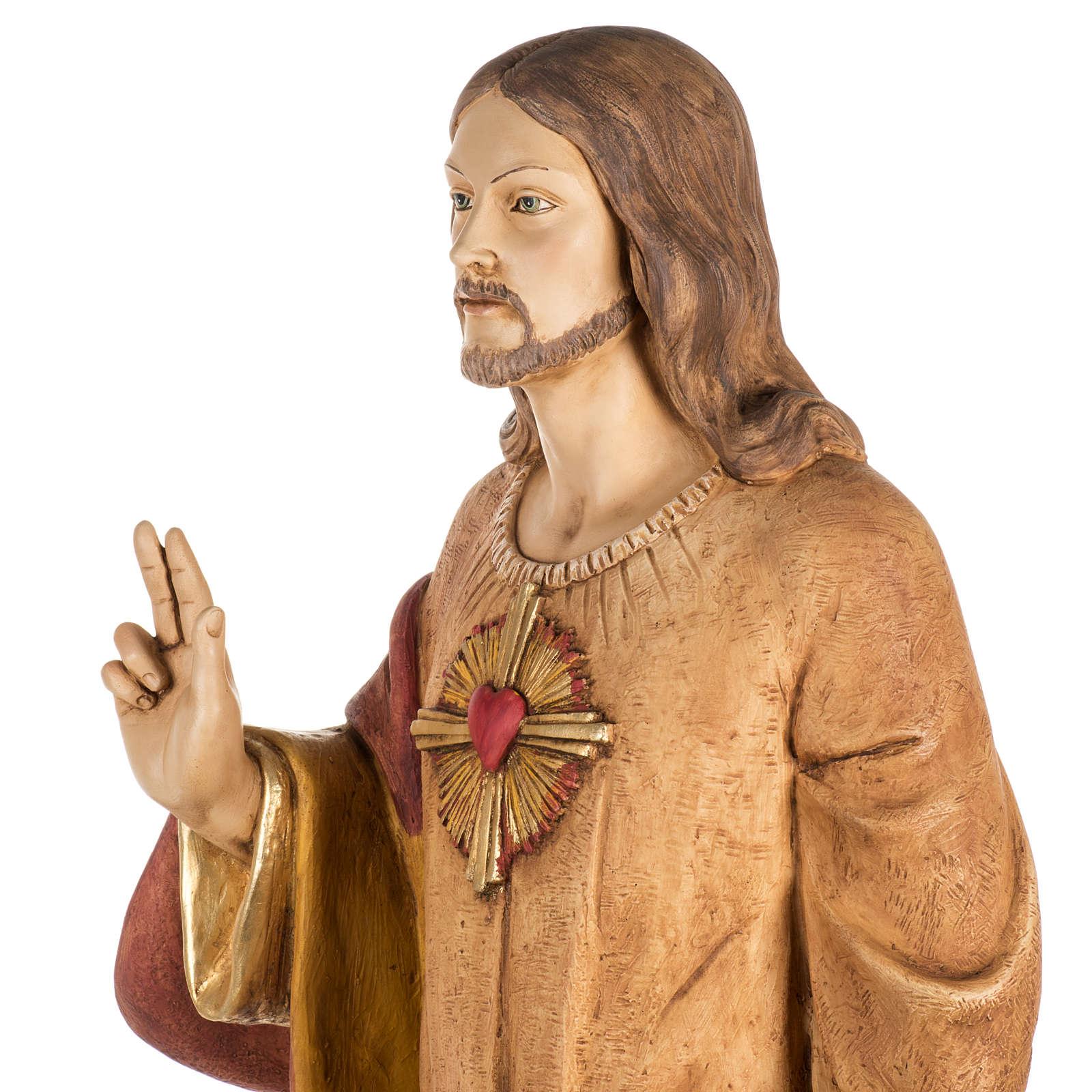 Sacro Cuore di Gesù 100 cm resina Fontanini 4