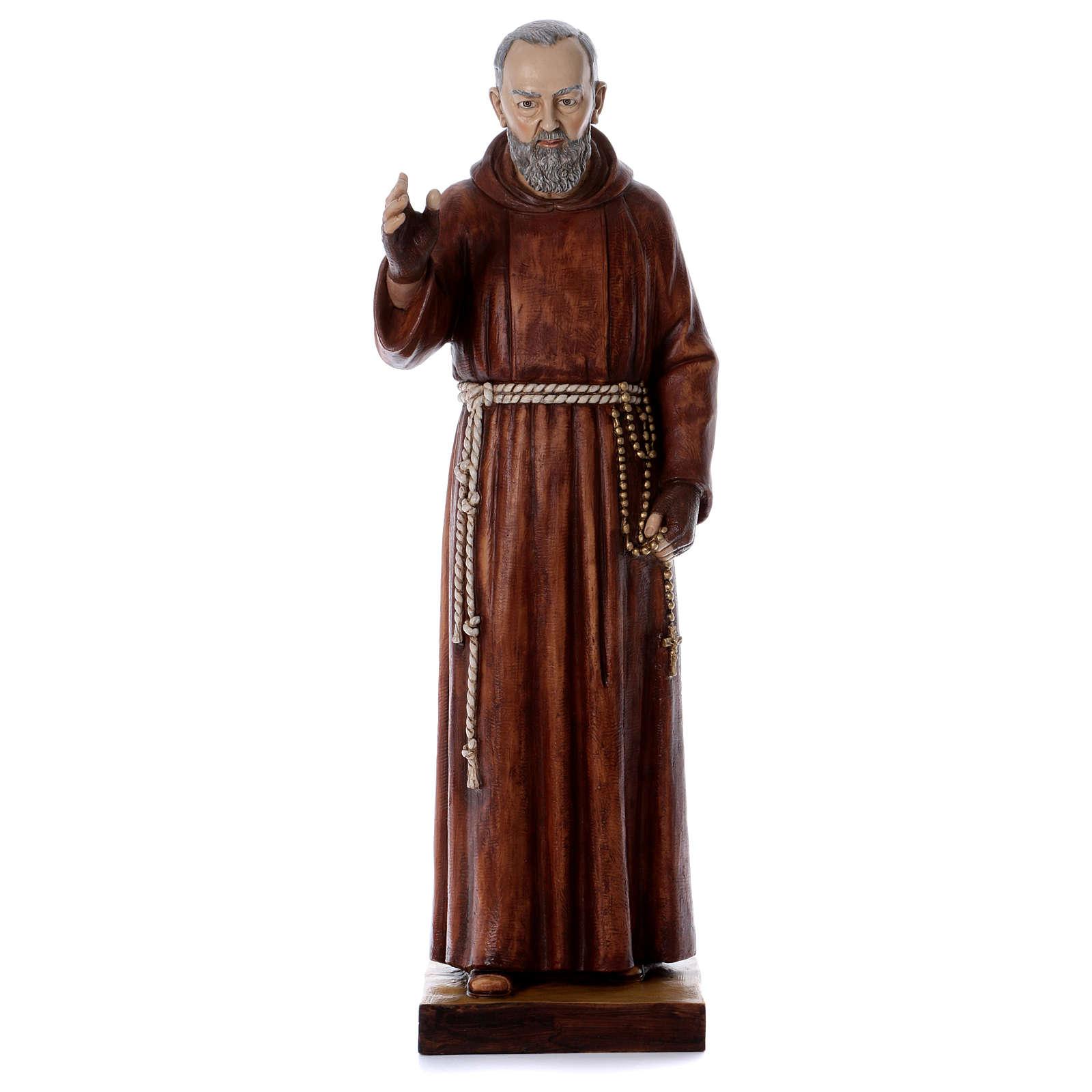 Statue Père Pio 100 cm résine Fontanini 4