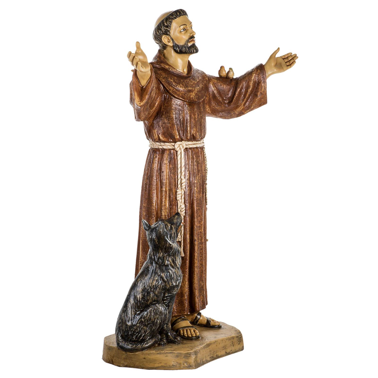 Saint François de Assisi 100 cm résine Fontanini 4