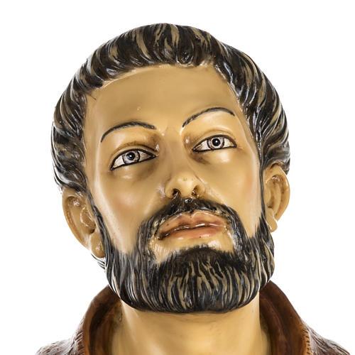 Saint François de Assisi 100 cm résine Fontanini 2