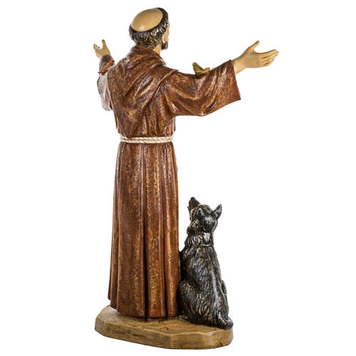 Saint François de Assisi 100 cm résine Fontanini 6