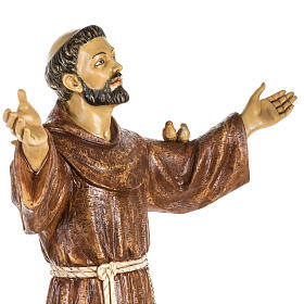San Francesco d'Assisi 100 cm resina Fontanini s4