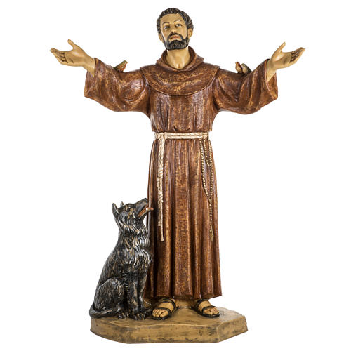 San Francesco d'Assisi 100 cm resina Fontanini 1