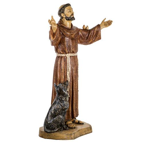 San Francesco d'Assisi 100 cm resina Fontanini 3