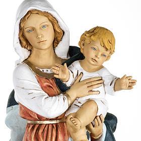 Statue Gottesmutter mit Christkind aus Harz 100cm, Fontanini s2
