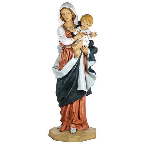 Statue Gottesmutter mit Christkind aus Harz 100cm, Fontanini 1
