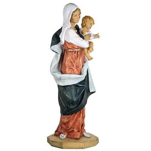 Statue Gottesmutter mit Christkind aus Harz 100cm, Fontanini 4