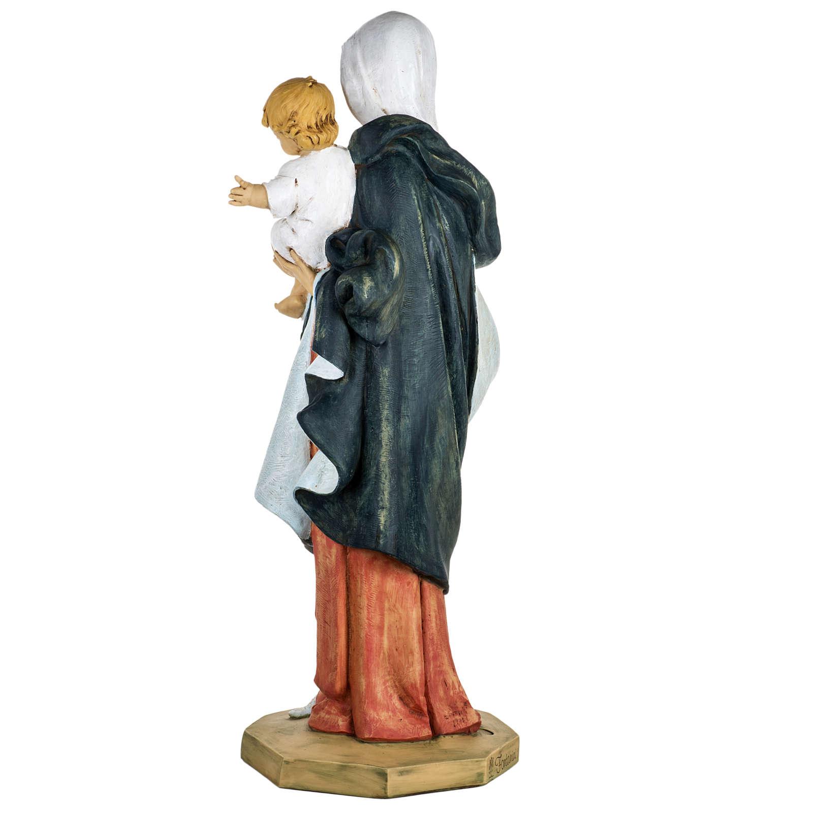 Madonna con bambino 100 cm resina Fontanini 4