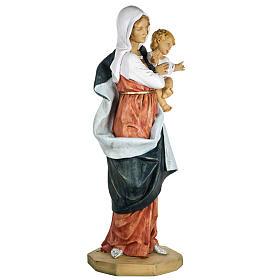Madonna con bambino 100 cm resina Fontanini s4