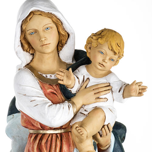 Madonna con bambino 100 cm resina Fontanini 2