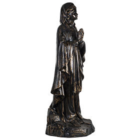 Figura Nuestra Señora de Medjugorje 100 cm. acabados bronceados s3