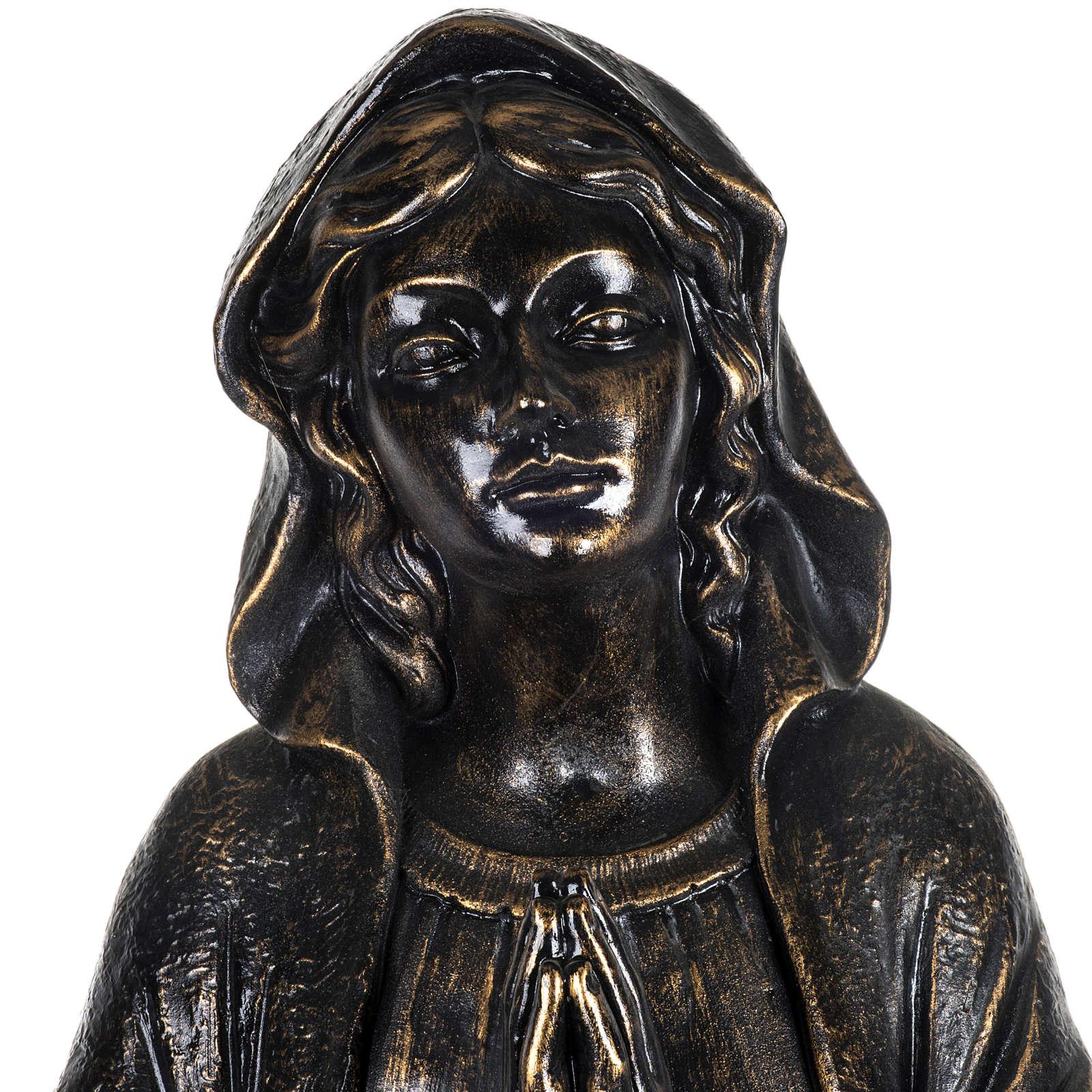 Vierge de Lourdes 100 cm résine bronzée Fontanini 4
