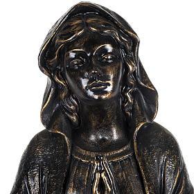 Vierge de Lourdes 100 cm résine bronzée Fontanini