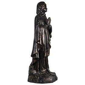 Vierge de Lourdes 100 cm résine bronzée Fontanini s3