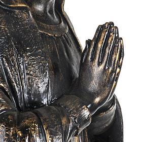 Vierge de Lourdes 100 cm résine bronzée Fontanini s4