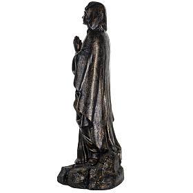Vierge de Lourdes 100 cm résine bronzée Fontanini s6