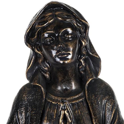 Vierge de Lourdes 100 cm résine bronzée Fontanini 2