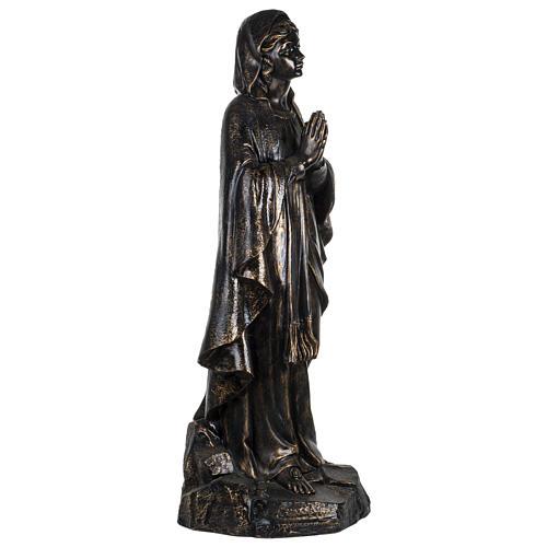 Vierge de Lourdes 100 cm résine bronzée Fontanini 3